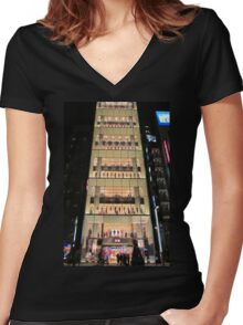 UNIQLO Ginza Streetscape, Chūō, Tokyo Women's Fitted V-Neck T-Shirt