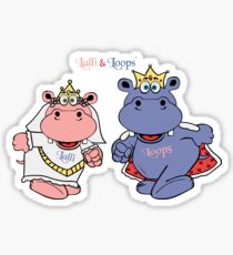 Hippos Nilpferde Lalli und Loops heiraten Sticker