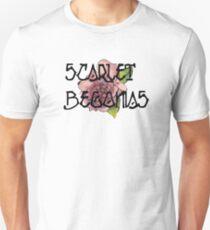 Scharlachrot Begonien Aquarell Slim Fit T-Shirt