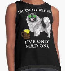 Keeshond Ive Only Had One In Dog Beers Year of the Dog Irish St Patrick Day Contrast Tank
