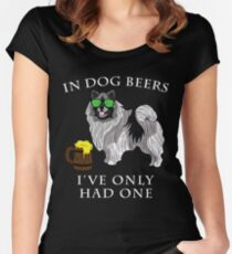 Keeshond Ive Only Had One In Dog Beers Year of the Dog Irish St Patrick Day Women's Fitted Scoop T-Shirt