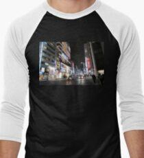 Ginza Streetscape, Chūō, Tokyo Men's Baseball ¾ T-Shirt