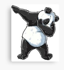 Dabbing Panda T Shirt Print Dab Bear Dance Men Women Kids Canvas Print