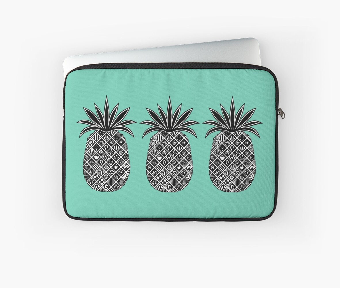 Pineapple of Trinkets - Row of 3 : Gracious Green by ColourPortal101