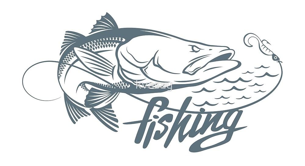 Common snook fish by kvasay