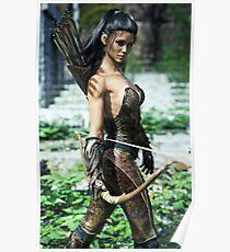 Fantasy elf female archer Poster
