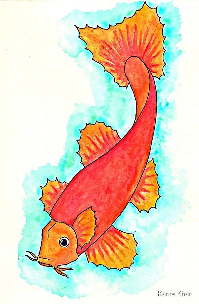 Orange Koi Fish by Kanra Khan