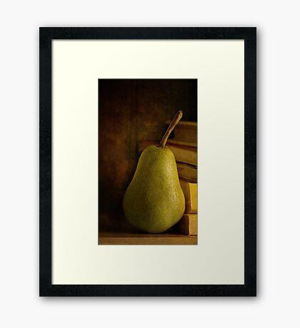 Kathy's Pear Framed Print