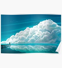 Anime Landscape | Lonely Clouds Poster
