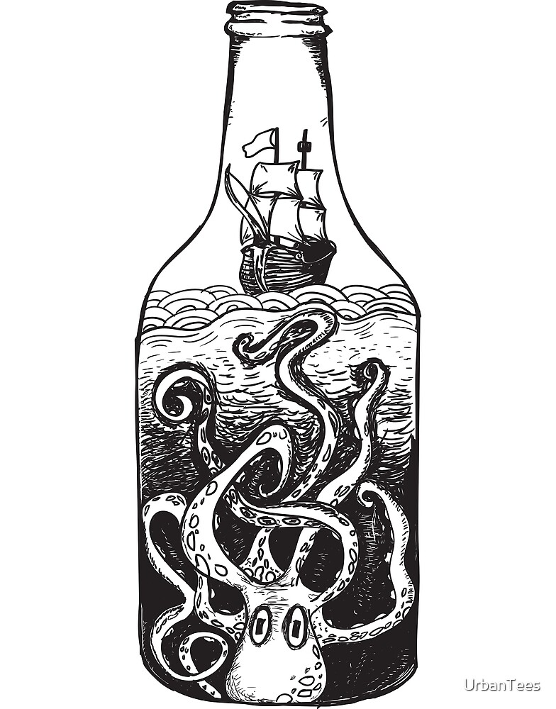 Monster in the bottle by UrbanTees