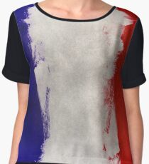 Watercolor flag of France Chiffon Top