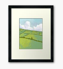 Billowing Clouds over a Field Framed Print