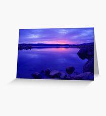 Lake Jindabyne Victoria Australia Greeting Card