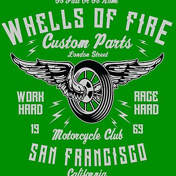 Wheels Of Fire - Custom Parts - 1969 - Motorcycle Club - San Francisco - California by flipper42