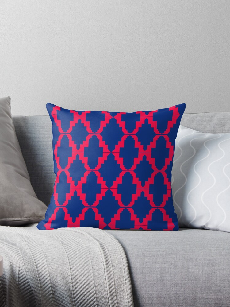 Design elements  red blue  Folk by Bee and Glow Illustrations Shop