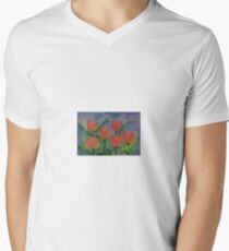 Tulips so Bold,   watercolor,  by Penny Gutman Men's V-Neck T-Shirt