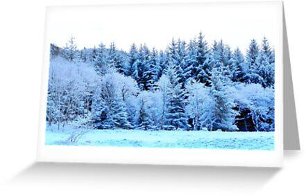 Snow on Anoch Mor by Leeanne Lowe