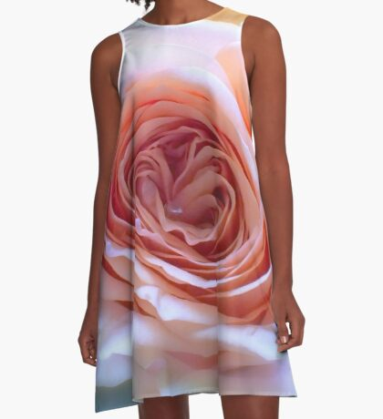 Soft Romantic Rose A-Line Dress