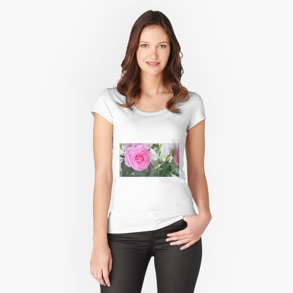 Beautiful Flowers  Women's Fitted Scoop T-Shirt Front
