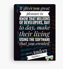 quotes for developers, programming Canvas Print