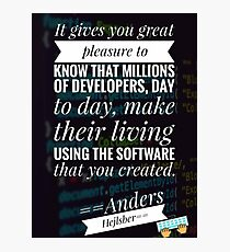 quotes for developers, programming Photographic Print