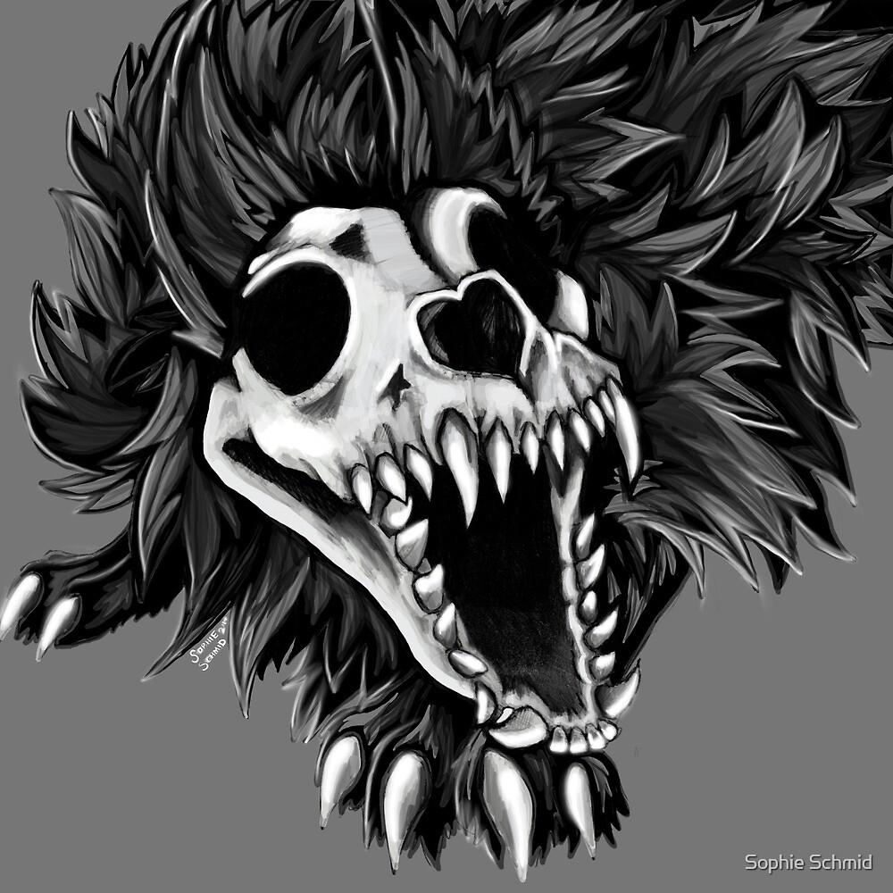 Wolf Skull by Sophie Schmid