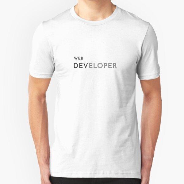 Web Developer (Inverted) Slim Fit T-Shirt