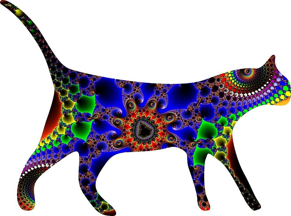 """ChaotiCat"" Trippy Fractal Cat Art Print by ChaosEmporium"