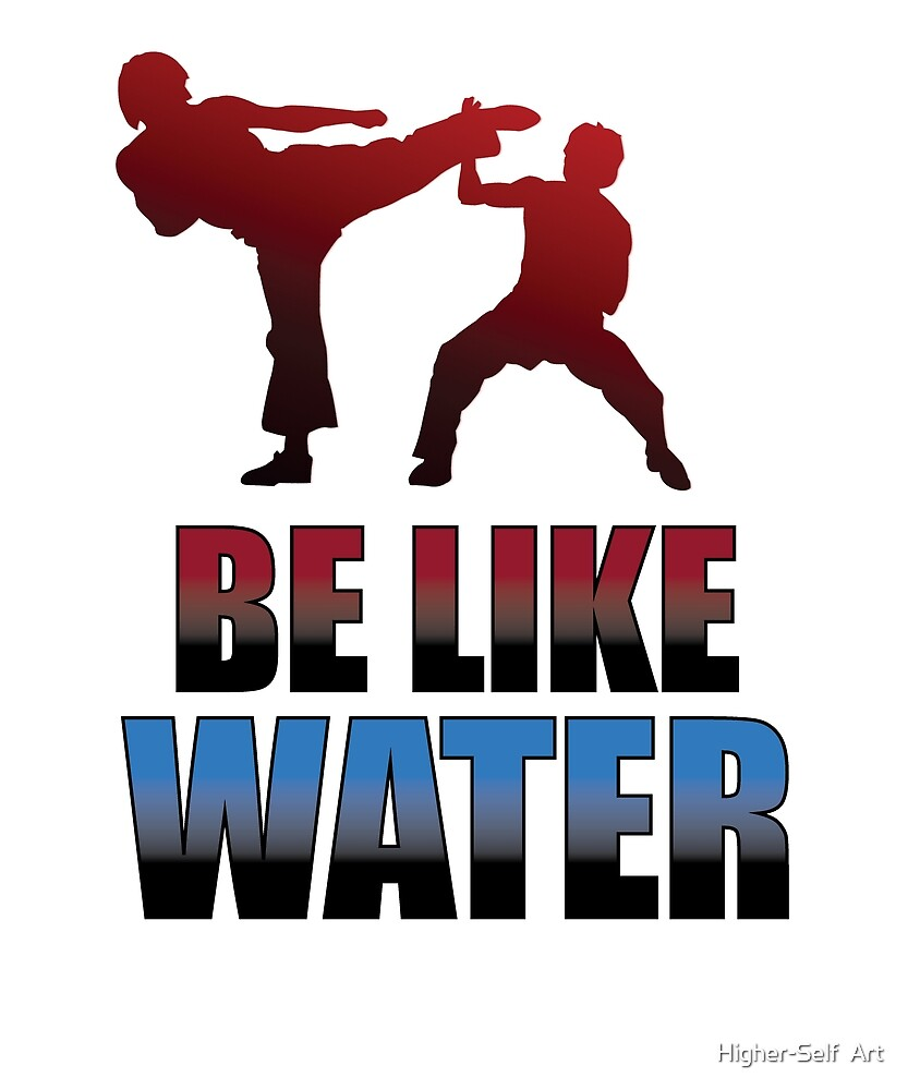 Be Like Water Kung Fu Quote tshirt martial arts gift by Higher-Self  Art