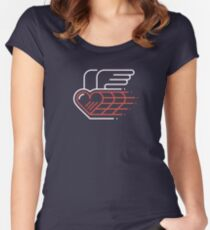 Winged Heart Fitted Scoop T-Shirt
