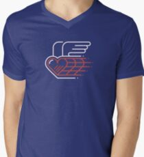 Winged Heart V-Neck T-Shirt
