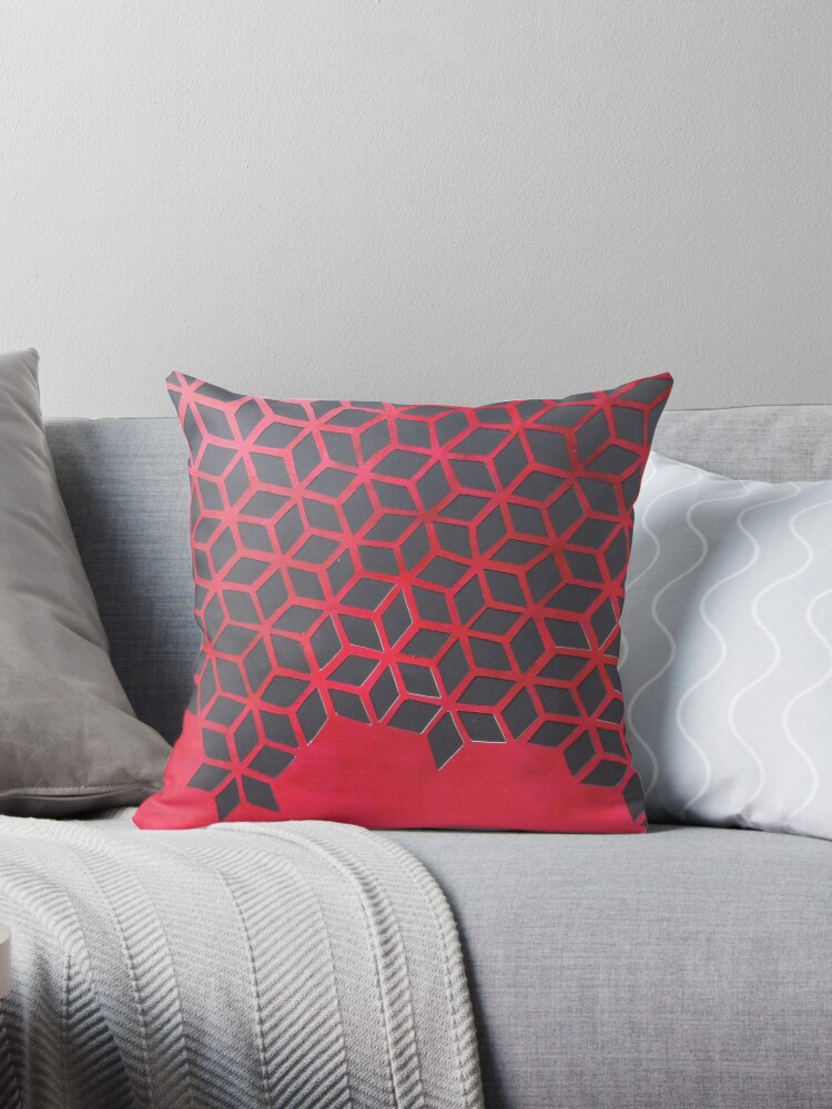 red and black geometric celtic symbol pattern by ramisdesigns