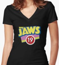 Jaws 19 Show Official Shirt Women's Fitted V-Neck T-Shirt