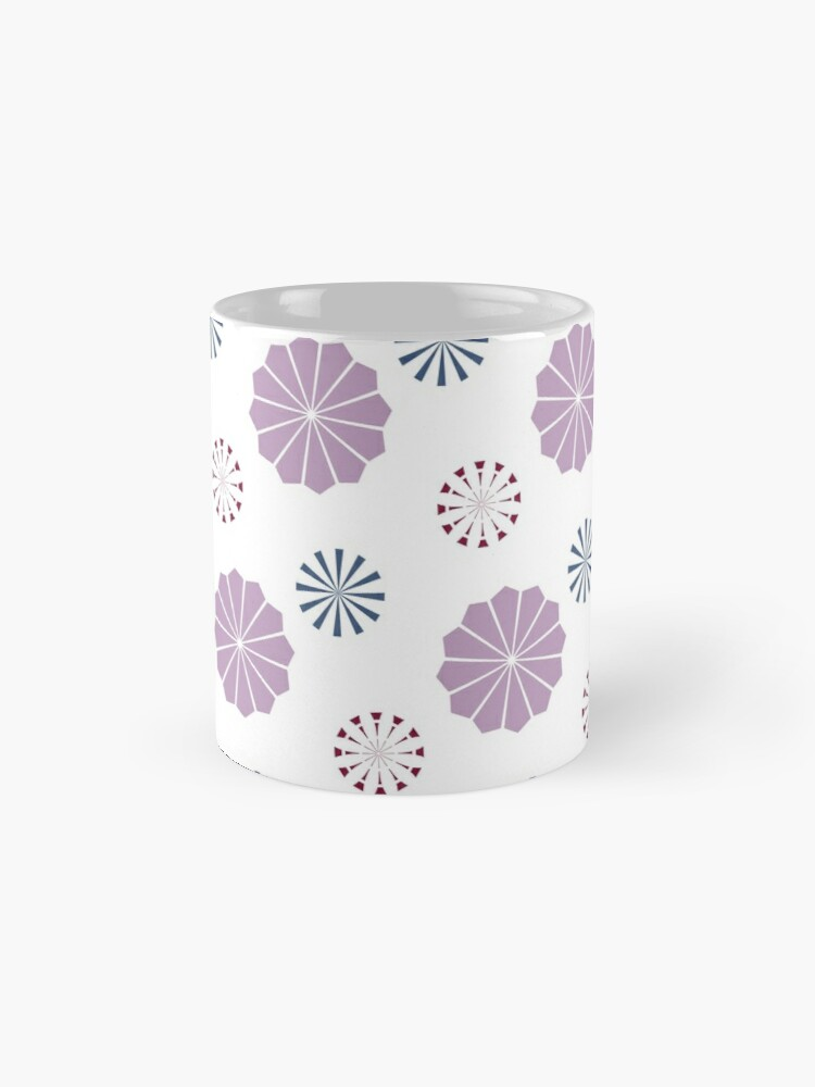 Alternate view of Pink and Blue Geometric Flowers Mug