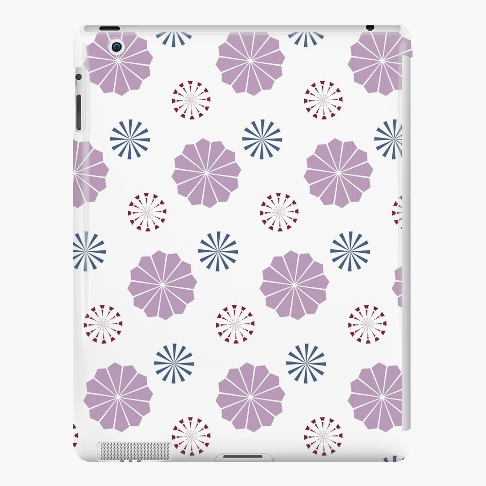 Pink and Blue Geometric Flowers iPad Case & Skin