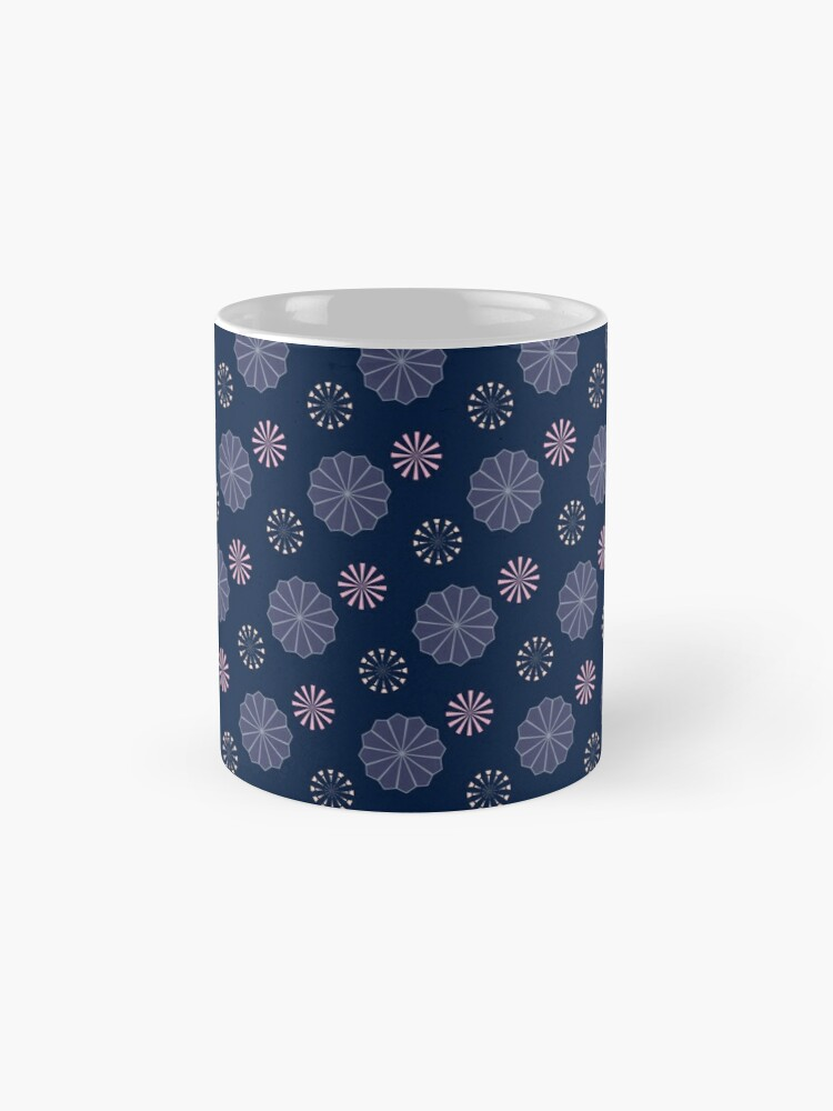 Alternate view of Pink and Purple Flowers at Night Mugs