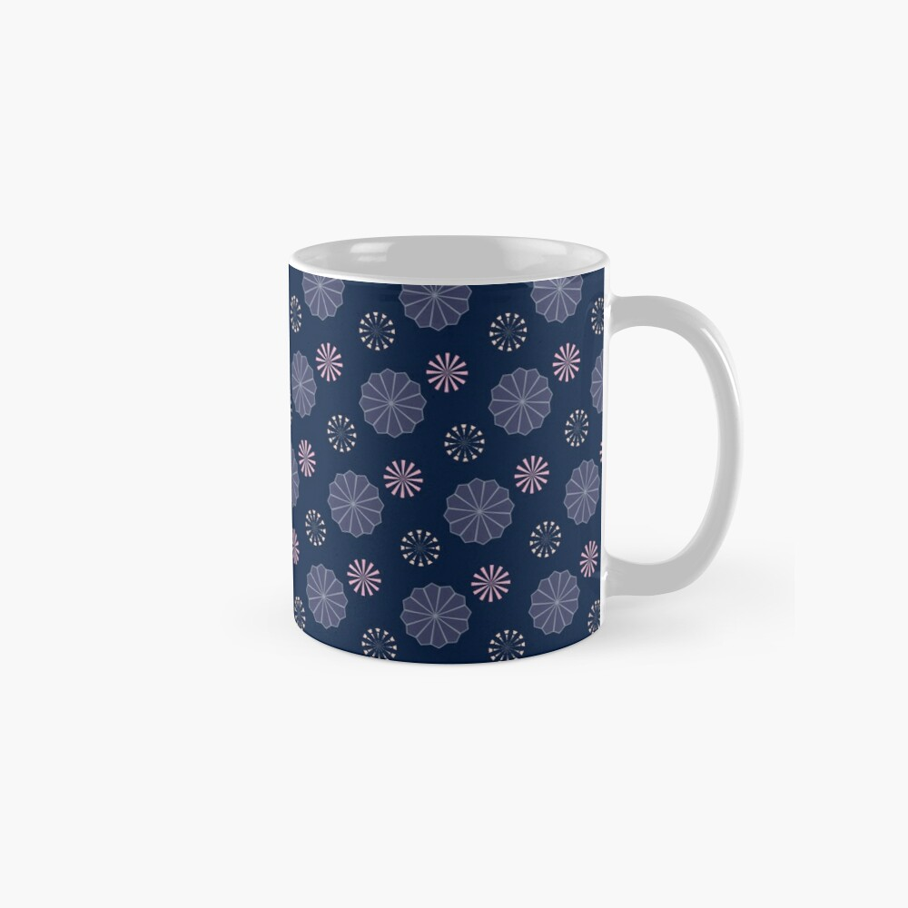 Pink and Purple Flowers at Night Mugs