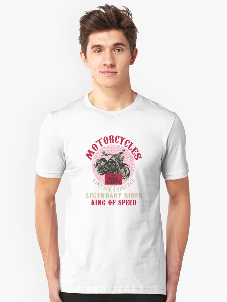 Motorcycle king of speed Unisex T-Shirt Front
