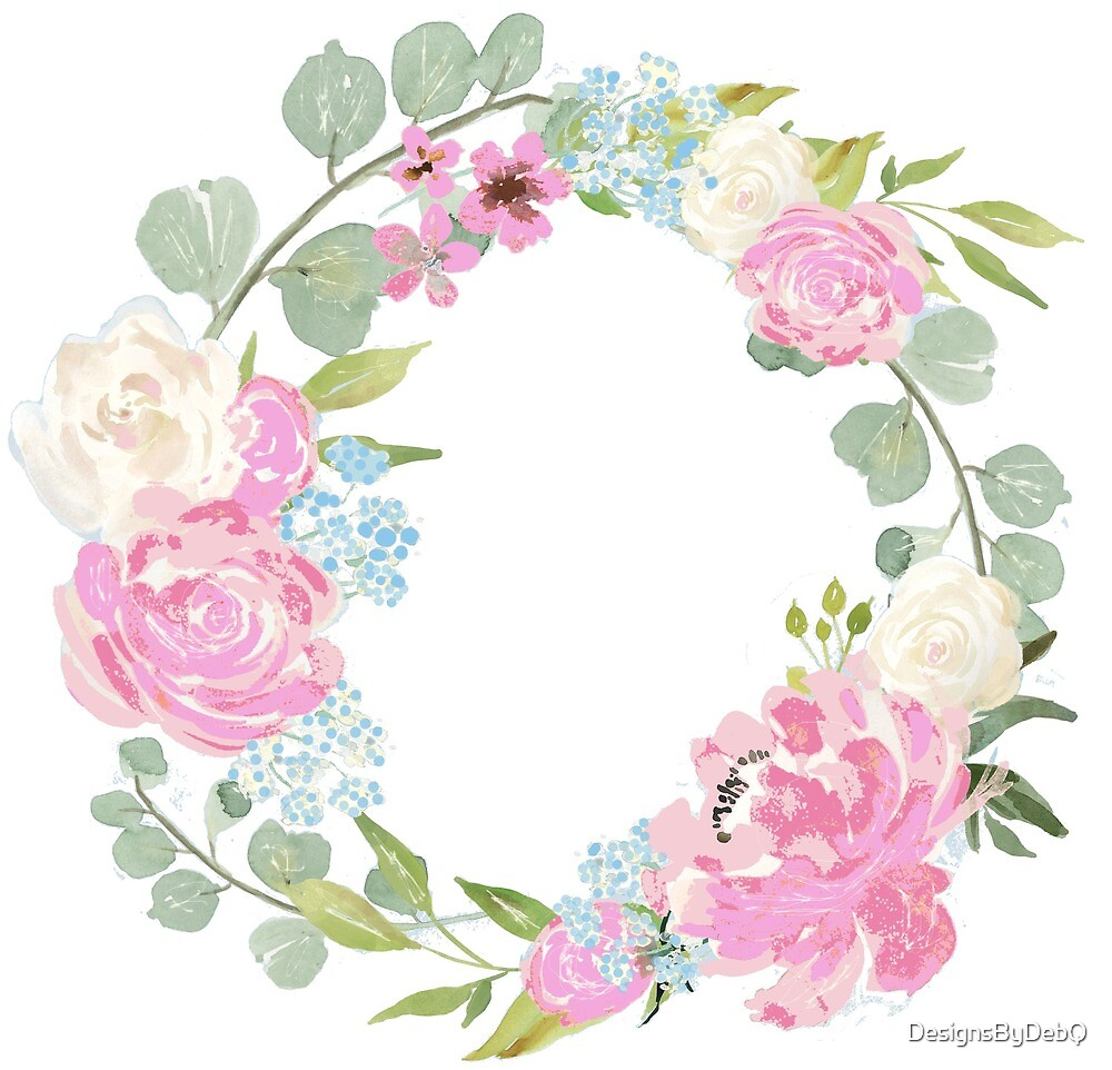 Pink Floral Wreath by DesignsByDebQ