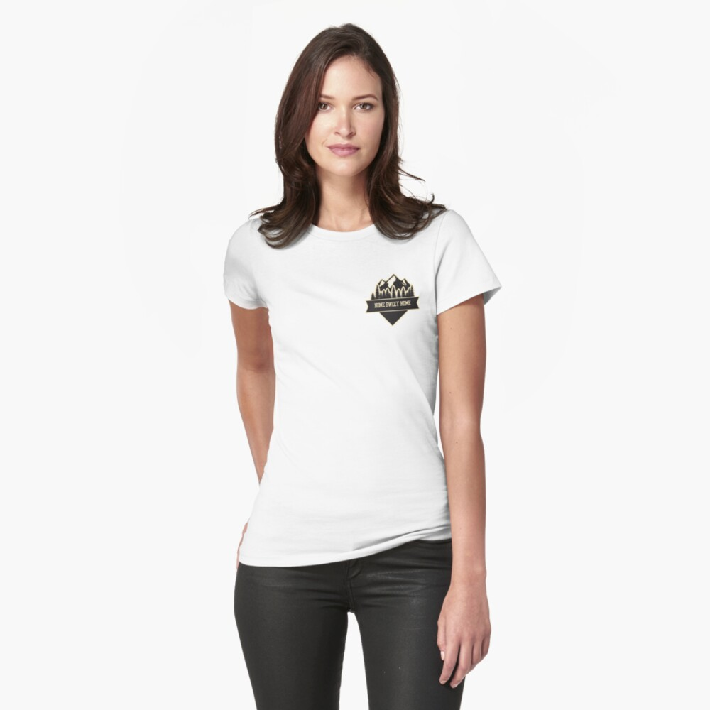 Home sweet home white Womens T-Shirt Front