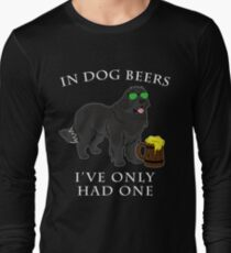 Newfoundland Ive Only Had One In Dog Beers Year of the Dog Irish St Patrick Day Long Sleeve T-Shirt