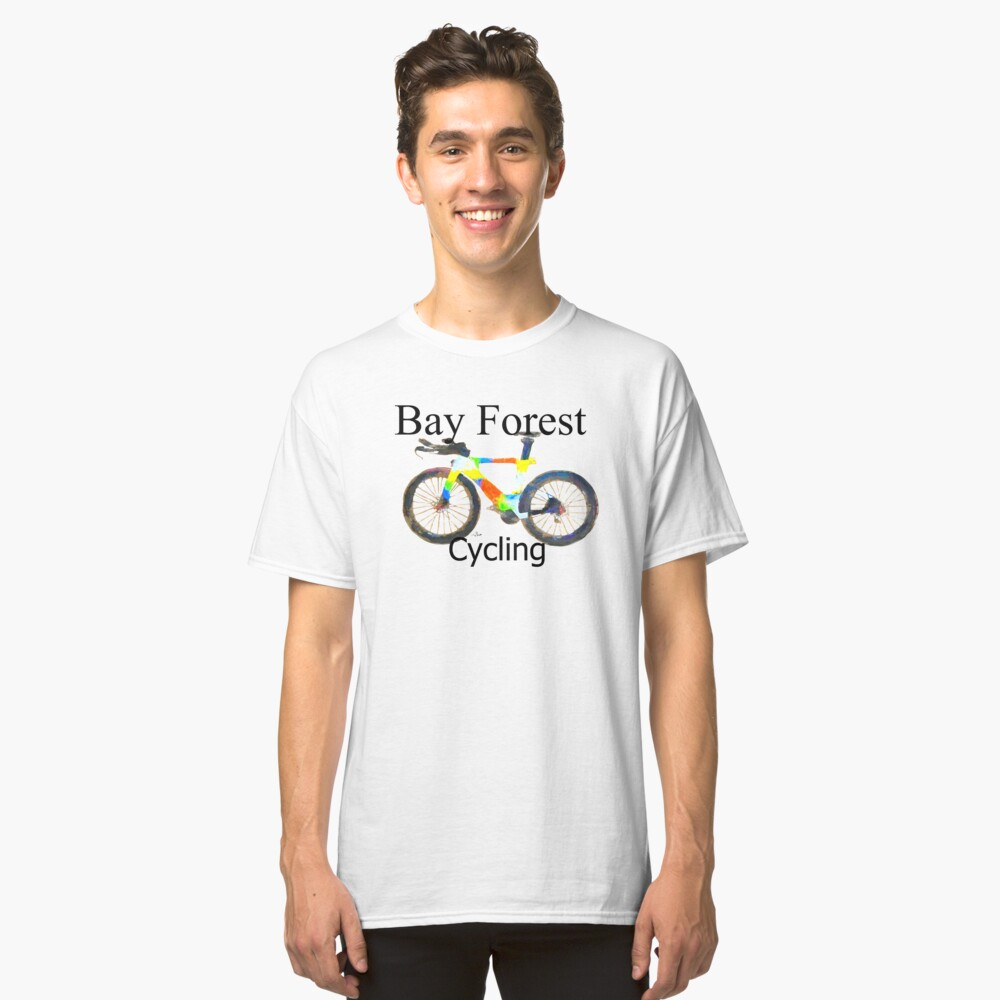 Bay Forest Cycling Tee by Tom SACHSE Classic T-Shirt Front