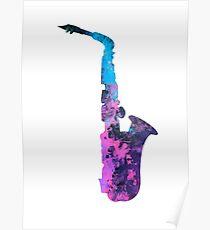 saxophone art #saxophone Poster