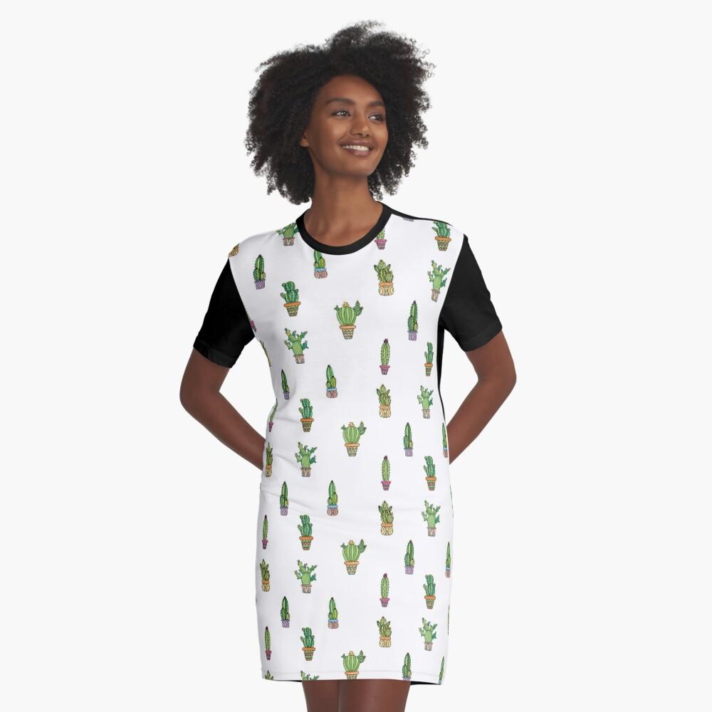 Cactus Bundle Graphic T-Shirt Dress Front