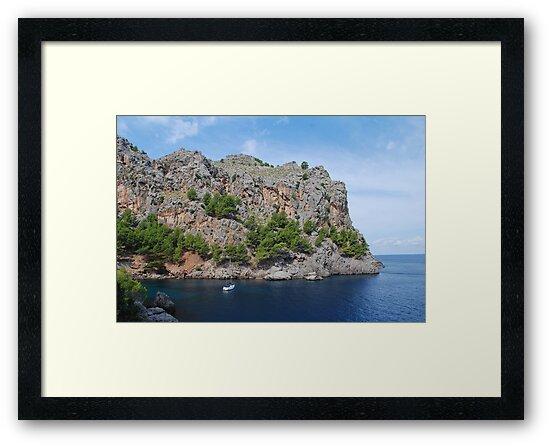 Sa Calobra port, Majorca by David Fowler
