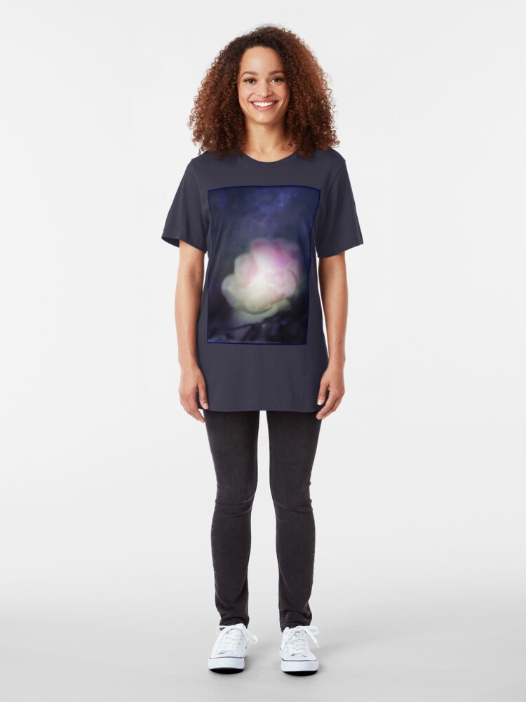 Alternate view of delicate pink old fashioned rose pattern 2 Slim Fit T-Shirt