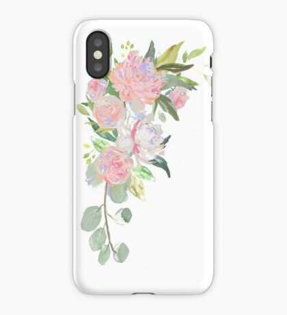 Pink Floral Border iPhone Case