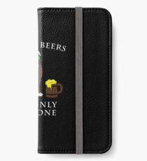 Pitbull Ive Only Had One In Dog Beers Year of the Dog Irish St Patrick Day iPhone Wallet/Case/Skin