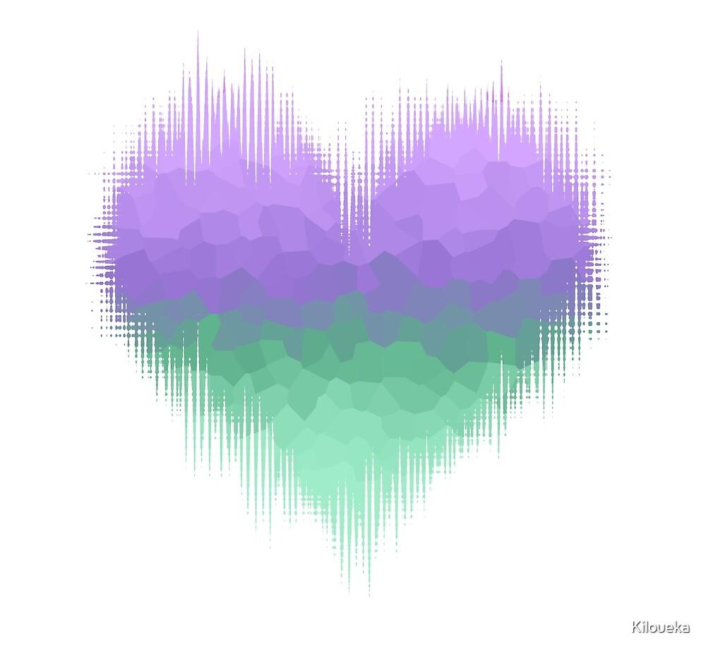 Femboy Glitch Heart by Kiloueka