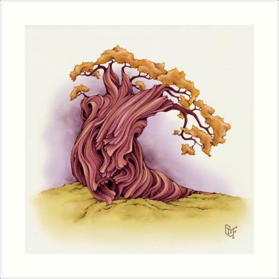 Wise Tree - bright warm tones by TheJoyfulYeti